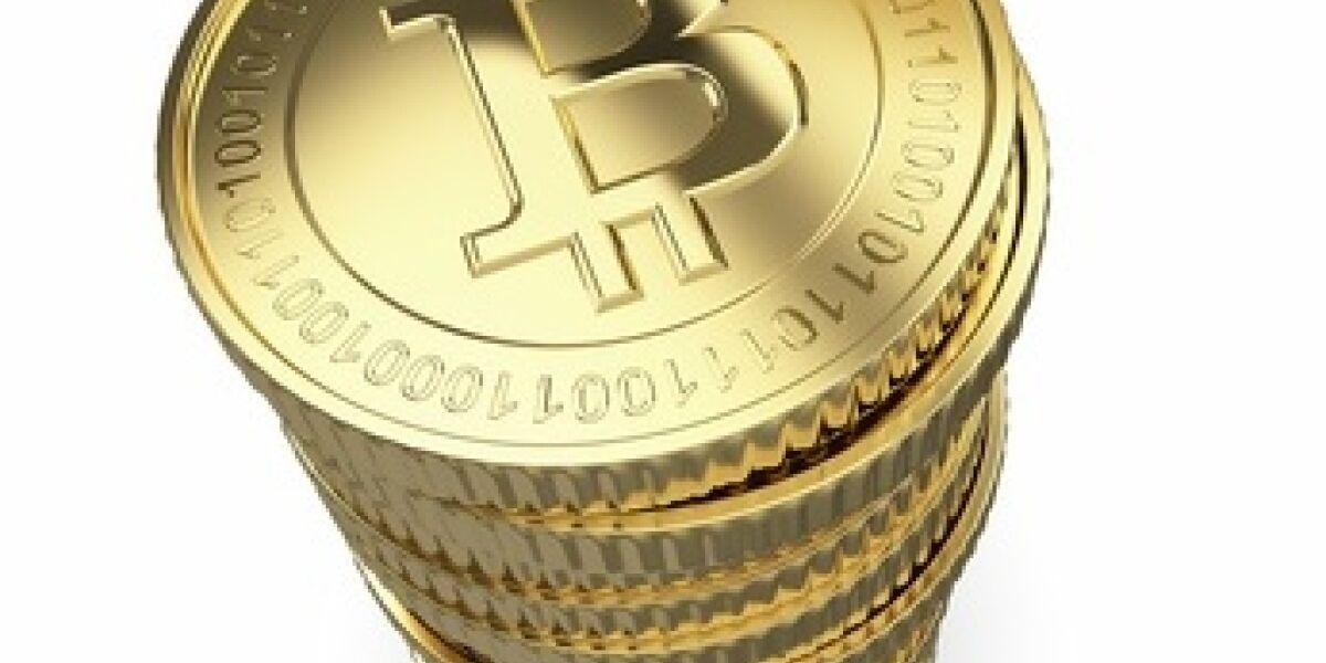 Stapel von Bitcoin Münzen