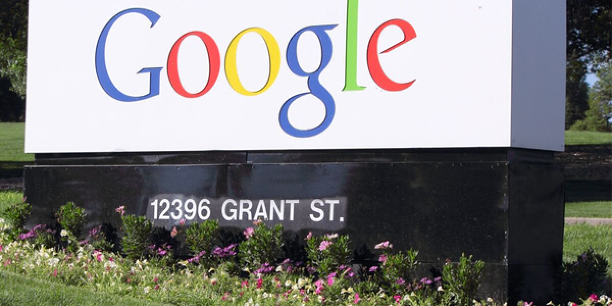 Google Logo als Steingravur