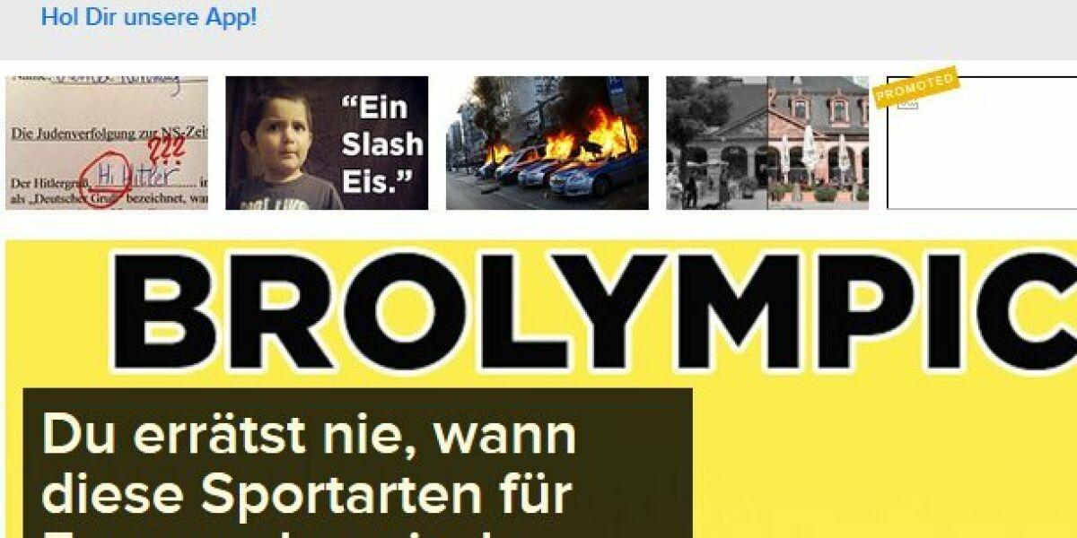Screenshot Webseite Buzzfeed