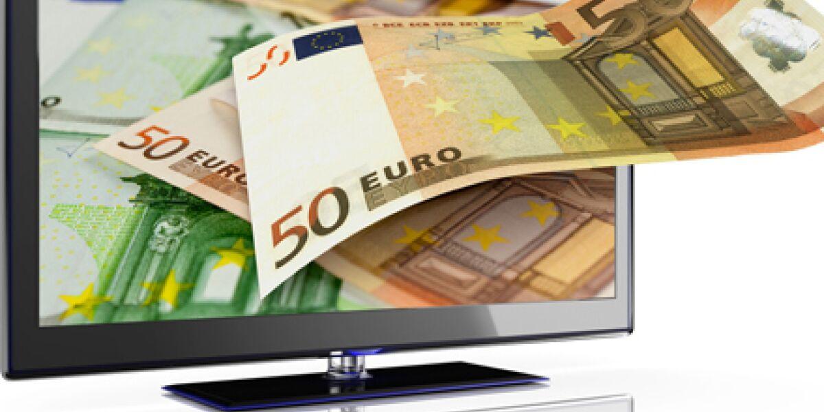 Fernseher mit Geld