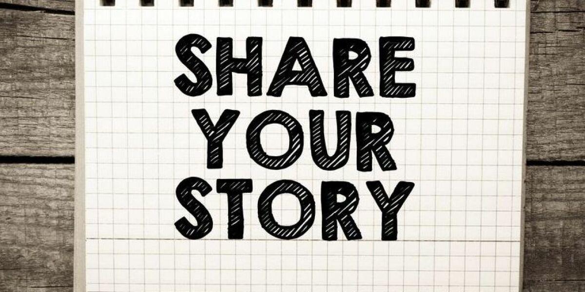 Storytelling-Schriftzug