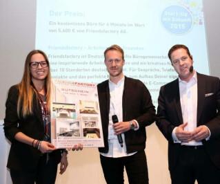 Preisträger des Start-Up mit Zukunft der Internet World Messe