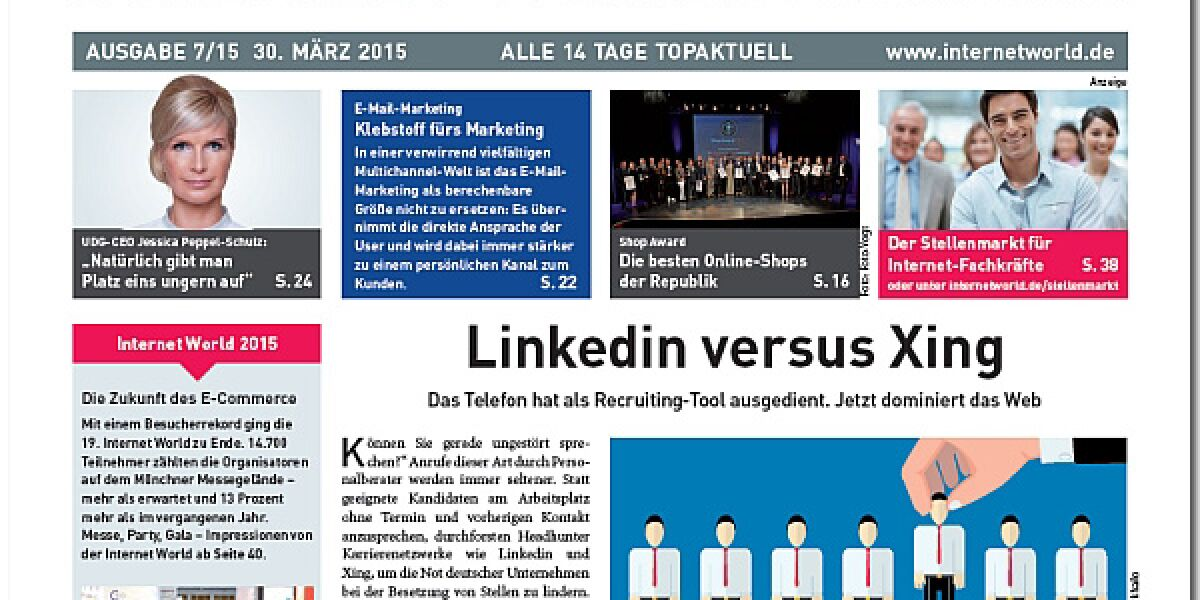 INTERNET WORLD Business Cover 7/2015