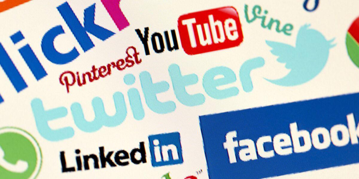 Logos verschiedener Social Media Kanäle