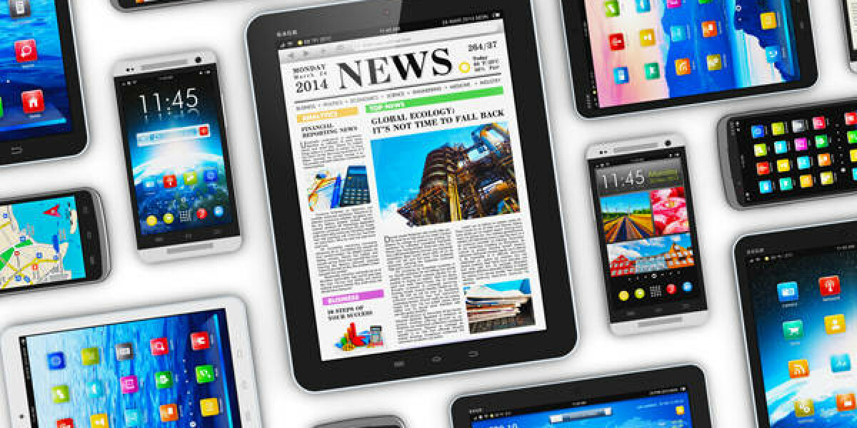Mobile Geräte mit verschiedenem Content