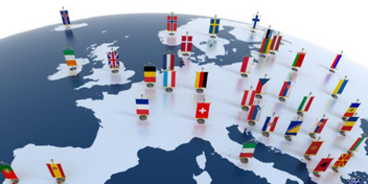 Weltkugel mit Länder