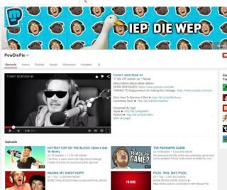 Youtubeseite von PewDiePie