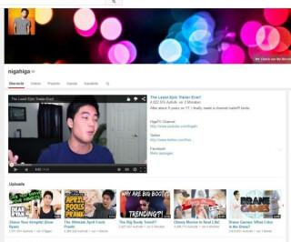 Youtubeseite von nigahiga