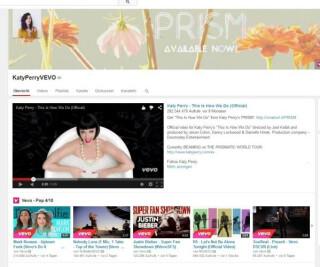 Youtubeseite von KatyPerry