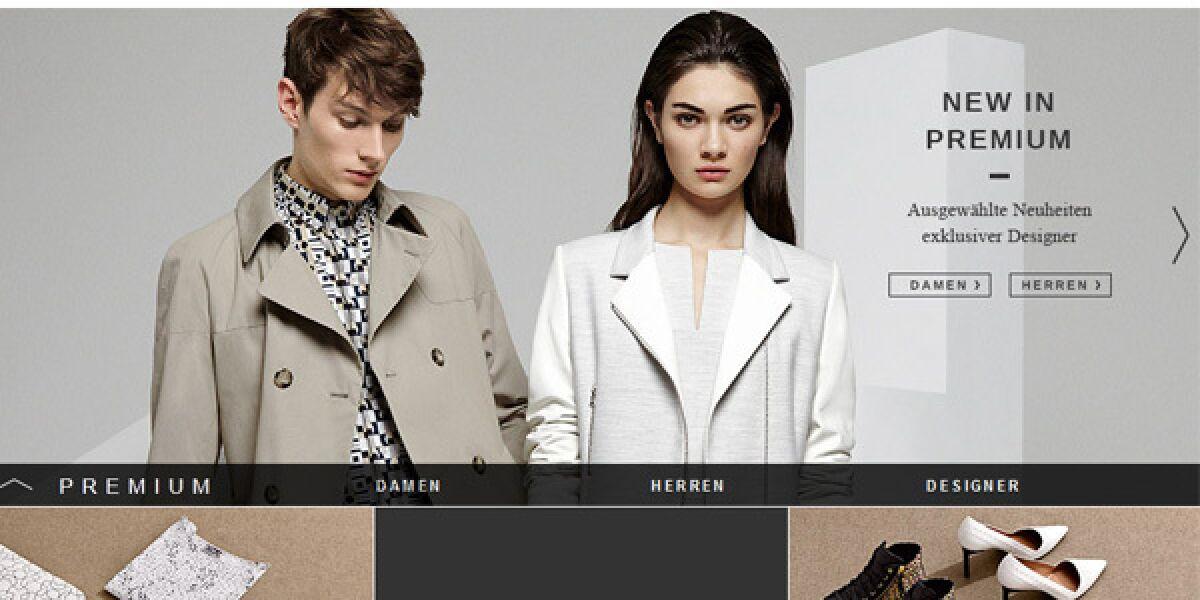 Zalando Webseite