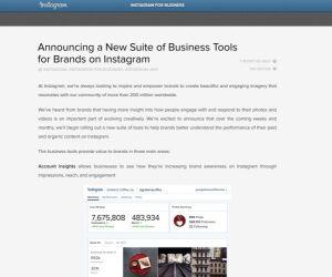 Screenshot von Webseite Intergram for Business Blog