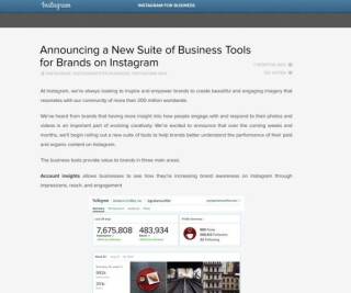 Screenshot von Webseite Intergram for Business Blog