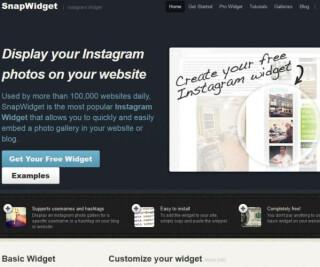 Interface von SnapWidget