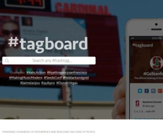 Webseite des Instagram-Tools tagboard