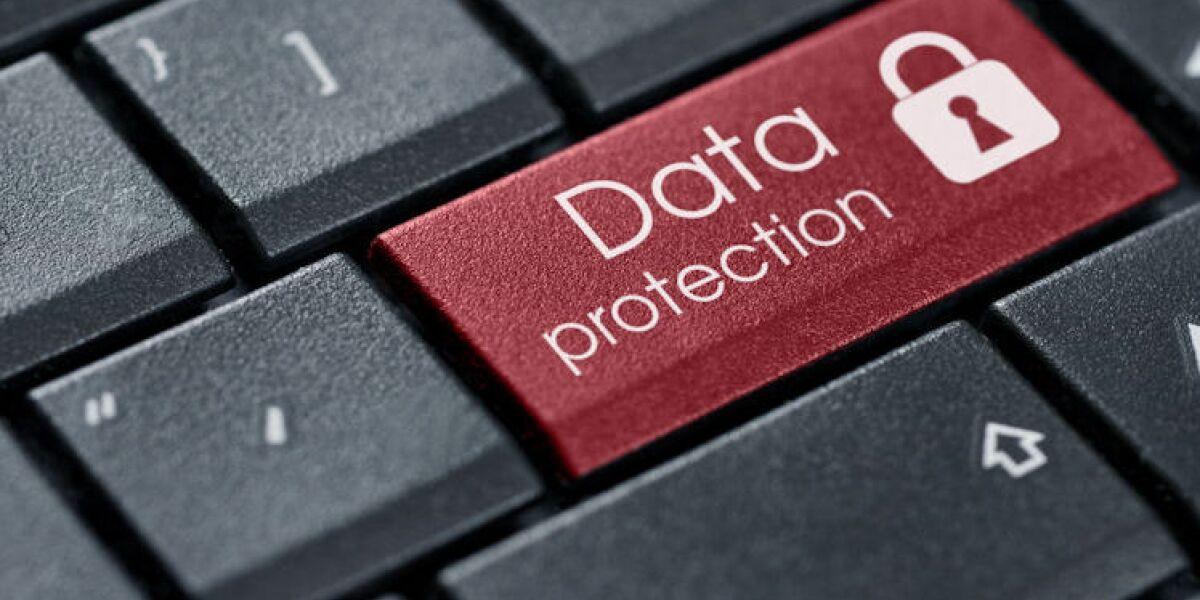 Tastatur mit Aufschrift Data Protection