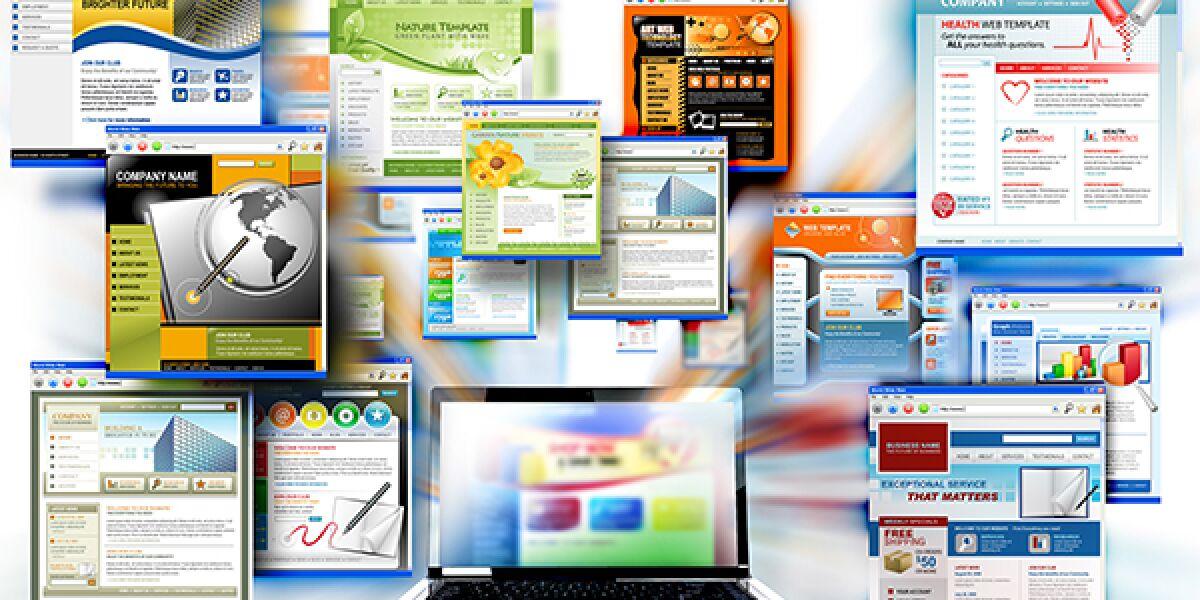 Viele verschiedene Webseiten