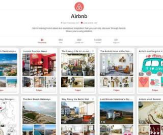Screenshot des Profils von Airbnb auf Pinterest
