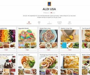 Screenshot des Profils von Aldi auf Pinterest