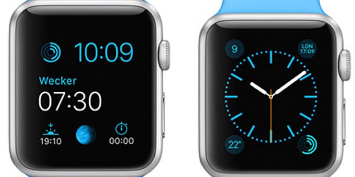 Apple Watches mit Uhrzeit