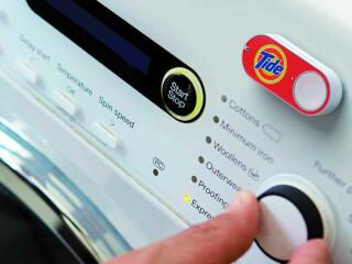 Amazon Dash Button an einer Waschmaschine