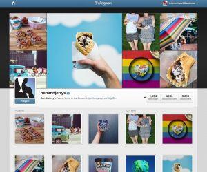 Instagramprofil von Ben and Jerrys