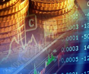 Münzen Börsenkurven