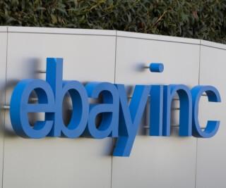 Schriftzug ebay inc auf dem Firmengelände