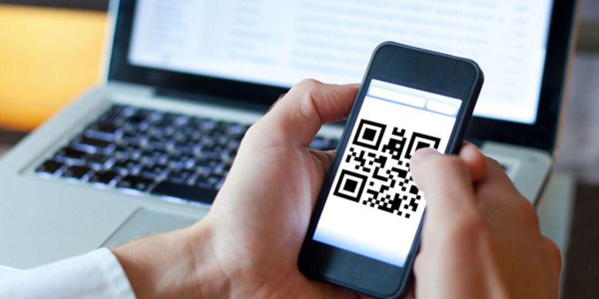 QR-Code auf Smartphone