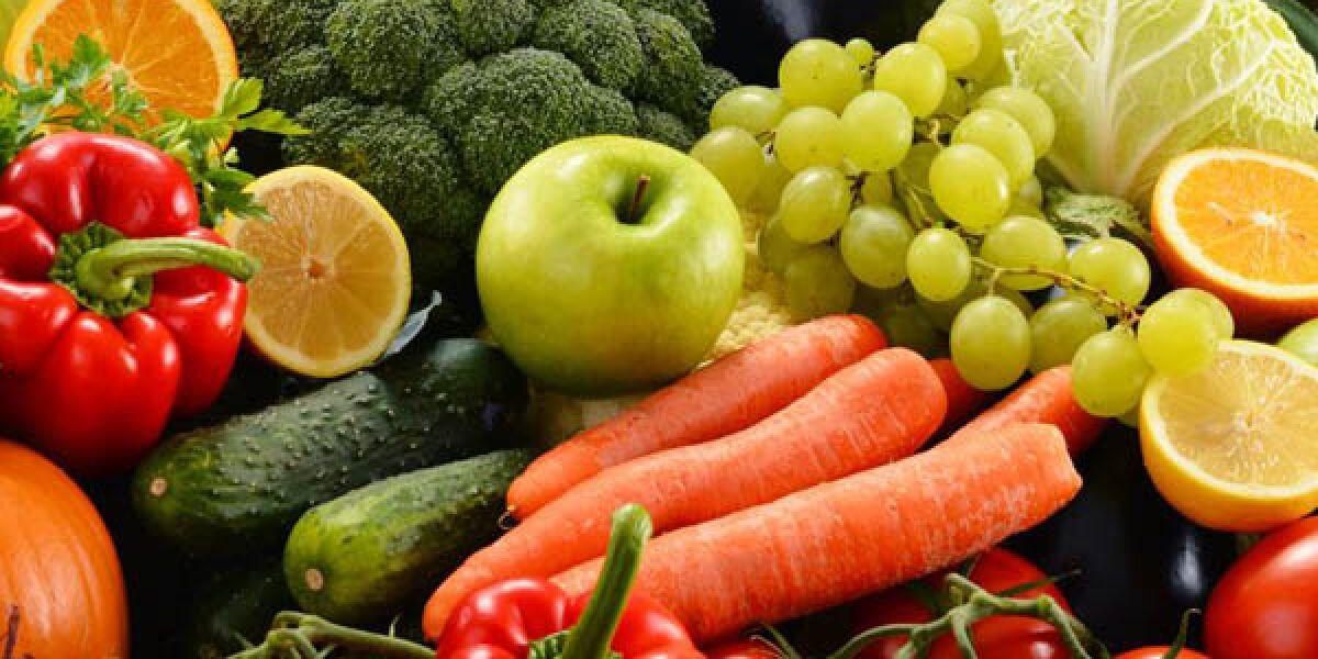 Gemüse und Lebensmittel