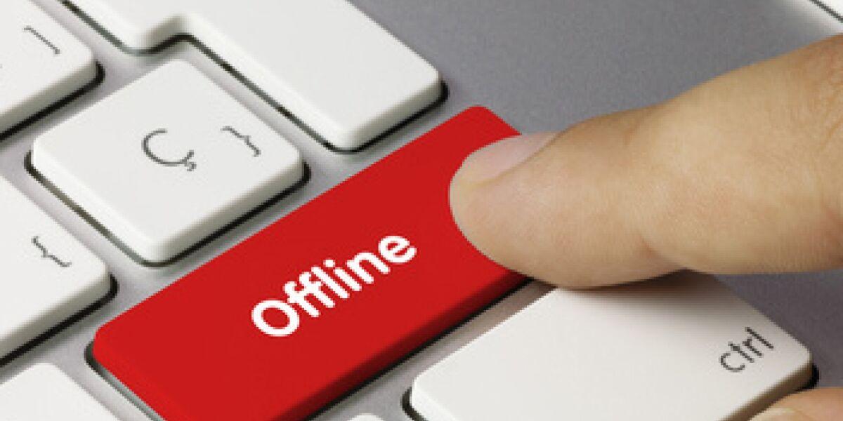 Offline-Taste auf dem PC