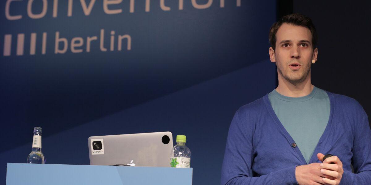 Betram Gugel auf der Media Convention in Berlin