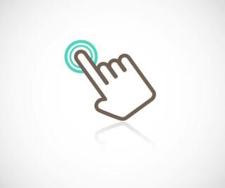 Hand die klickt