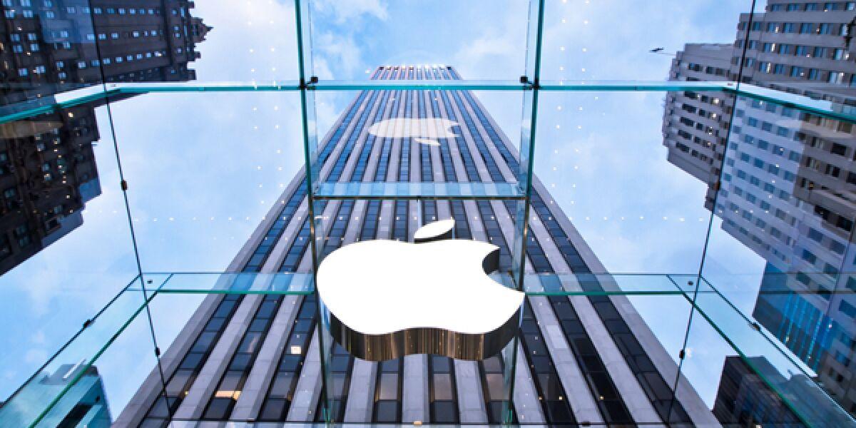 Das Logo von Apple im Unternehmen