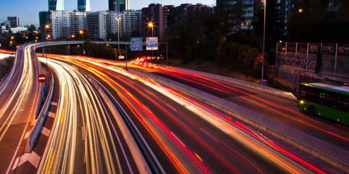 Verkehr in einer Stadt