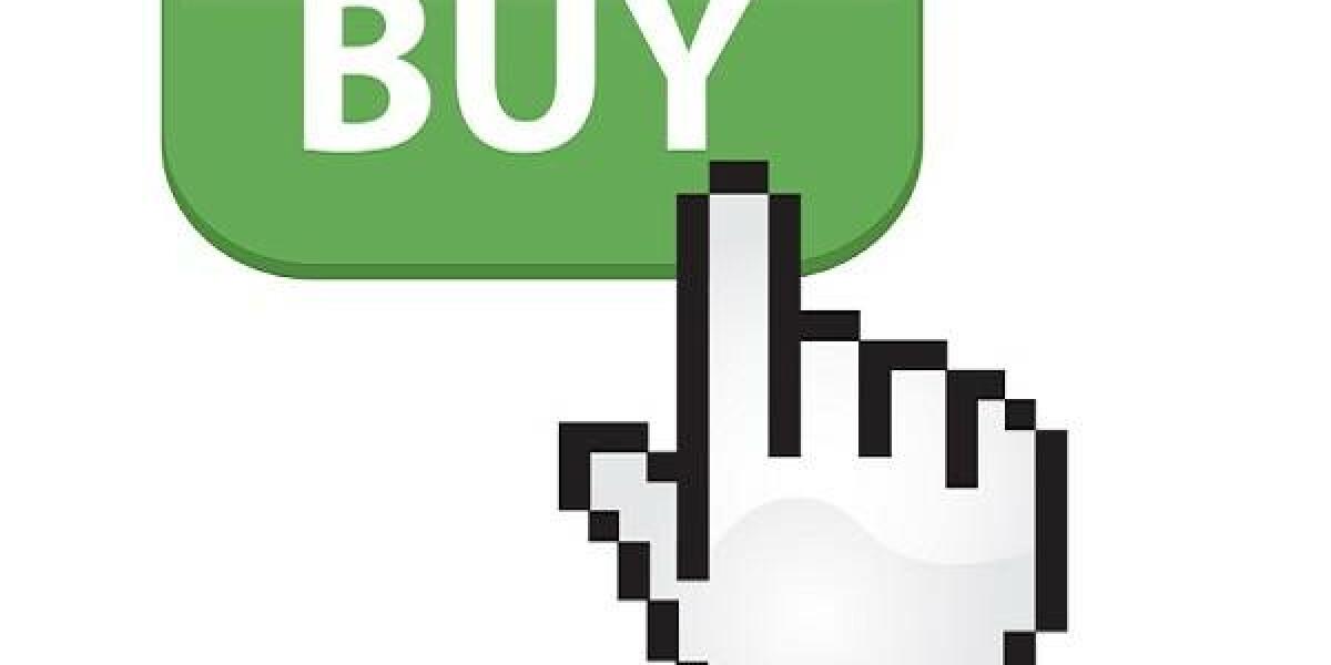 Hand klickt auf Buy-Button