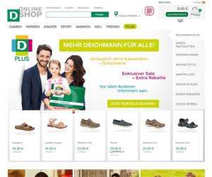 Webseite von Deichmann