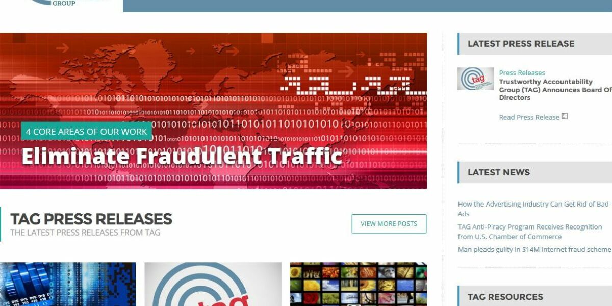 Webseite der Trustworthy Accountability Group