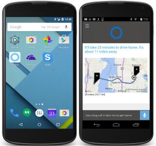 Cortana auf Android-Smartphone