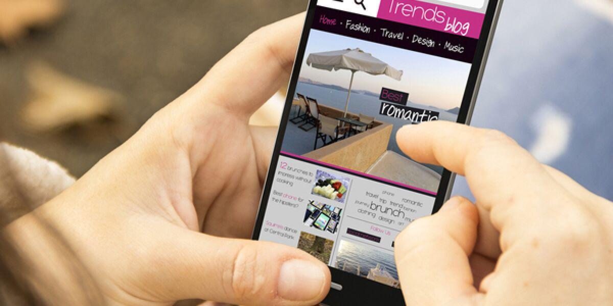 Mobiler Online-shop auf dem Smartphone