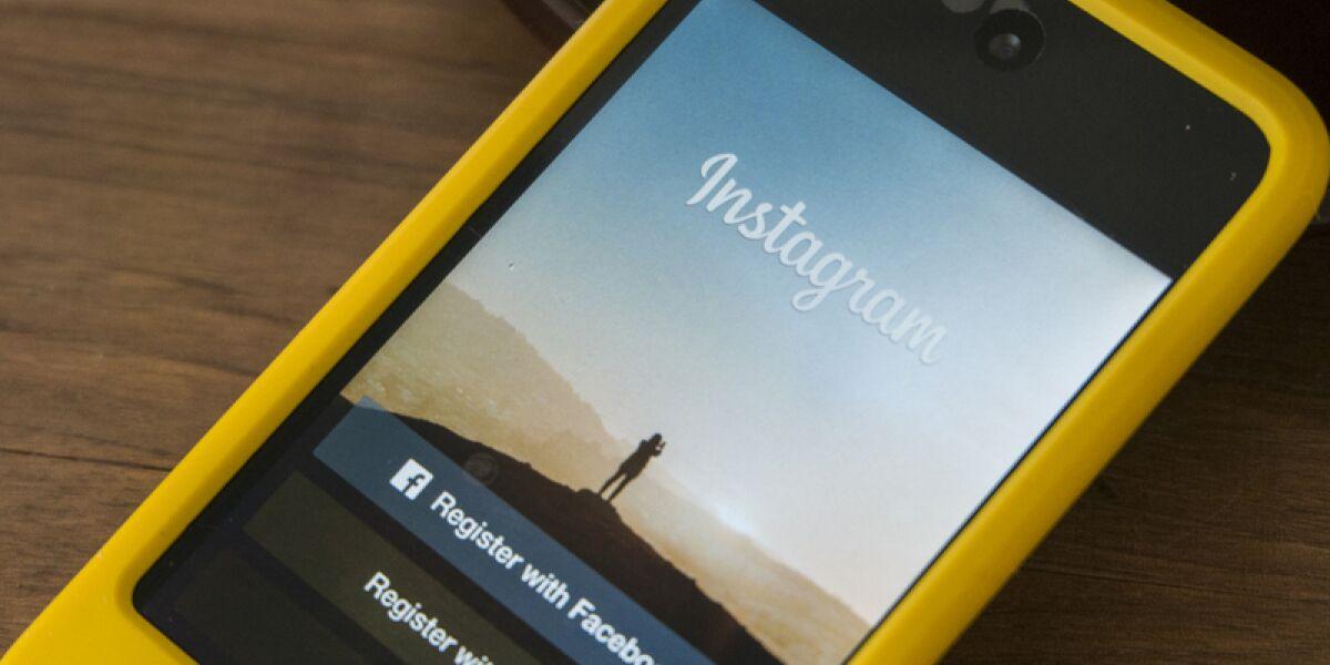 Foto-Sharing-App Instagram auf dem Smartphone