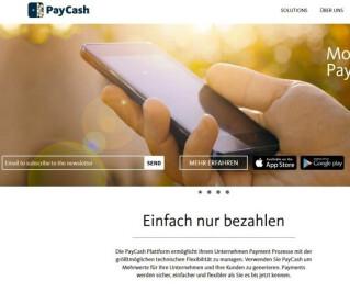 Website von Paycash