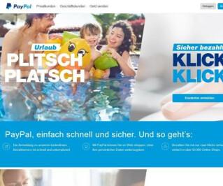 Website von PayPal