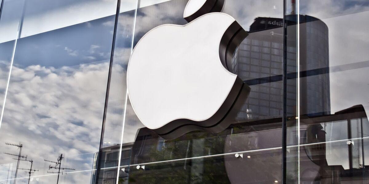 Apple Logo auf Gebäude in Frankfurt