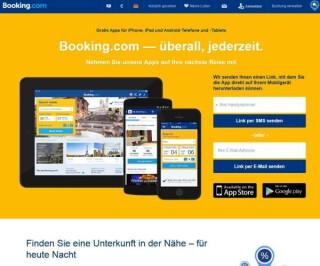 Website von Booking.com