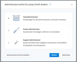 Teamverwaltung in Dropbox