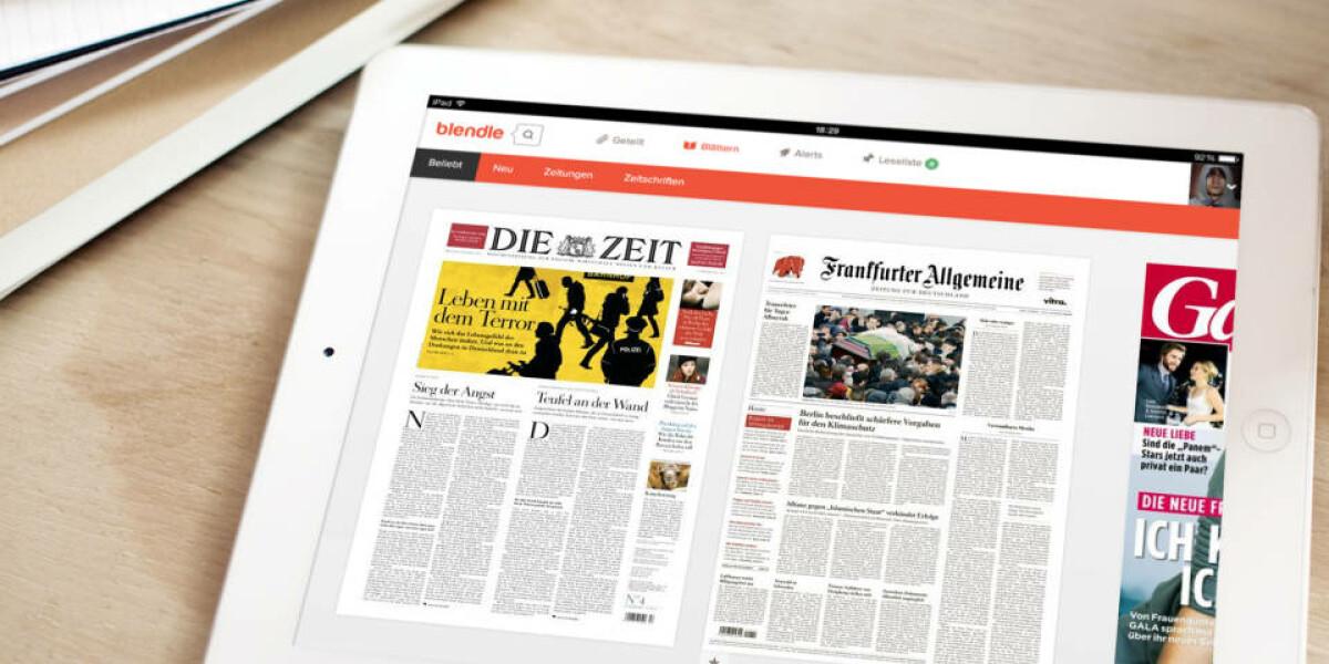 Zeitungsartikel mit blendle auf Tablet