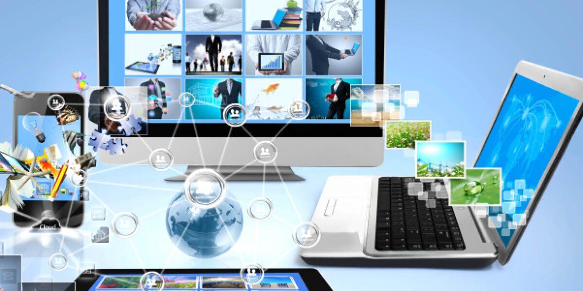Smartphone, Tablet, Laptop und Desktop-PC