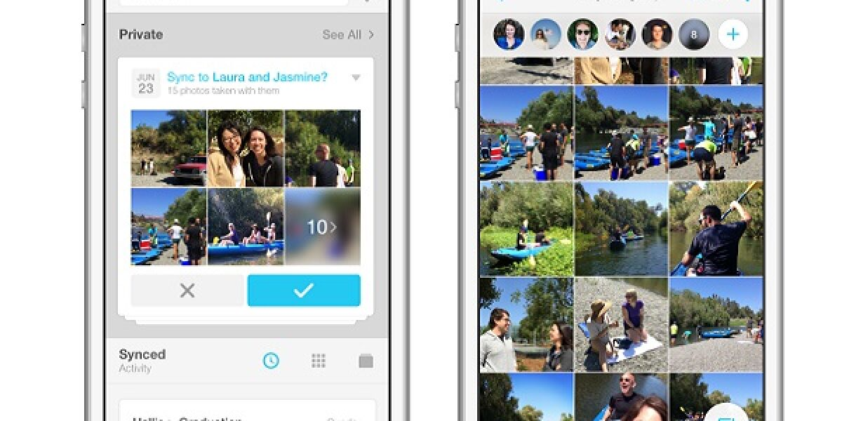 Handy mit Facebook App