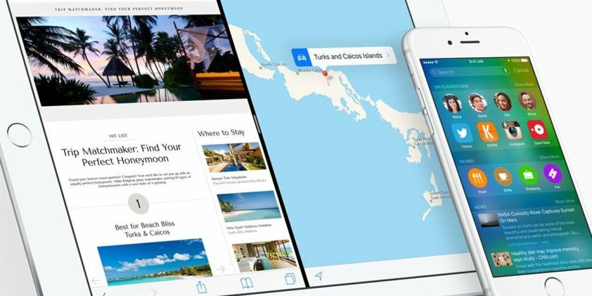 Apple Tablet und Smartphone