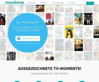 Website von Maxdome